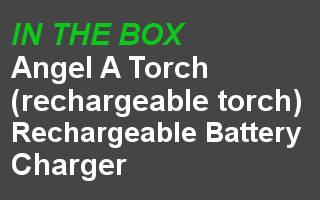 angel a rechargeable pocket torch